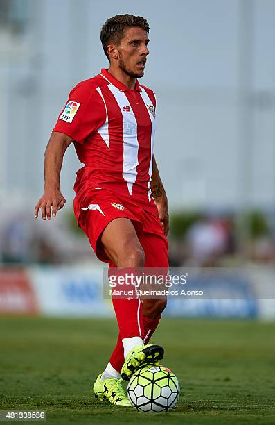 Daniel Carrico of Sevilla controls the ball during a Pre Season Friendly match between Sevilla and Alcorcon at Pinatar Arena Stadium on July 19 2015...