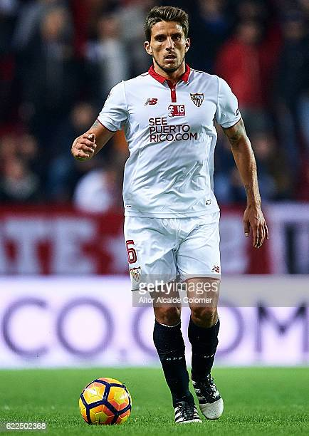 Daniel Carrico of Sevilla FC in action during the match between Sevilla FC vs Boca Juniors as part of the friendly match 'Trofeo Antonio Puerta' at...