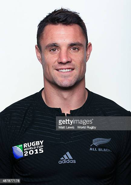 Daniel Carter of New Zealand poses for a portrait during the New Zealand Rugby World Cup 2015 squad photo call on September 12 2015 in London England