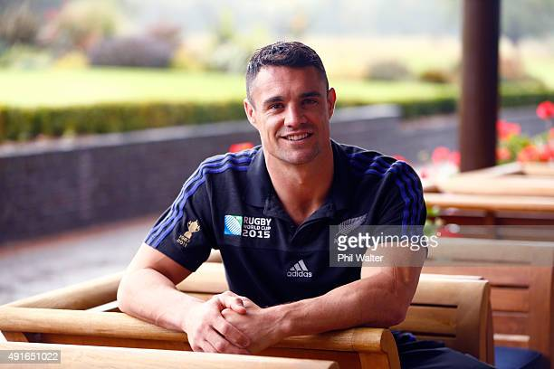 Daniel Carter of the All Blacks during a New Zealand All Blacks media session at Rockliffe Hall on October 7 2015 in Darlington United Kingdom