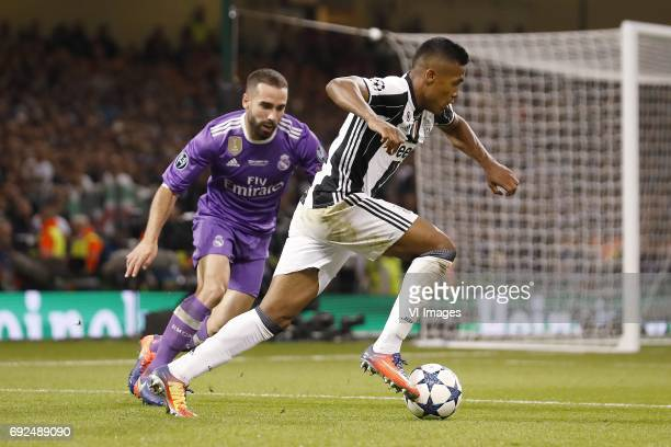 Daniel Carvajal of Real Madrid Alex Sandro of Juventus FCduring the UEFA Champions League final match between Juventus FC and Real Madrid on June 3...