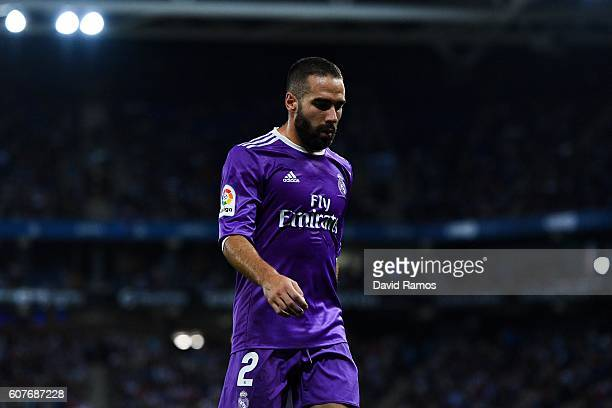 Daniel Carvajal of Real Madrid CF looks on during the La Liga match between RCD Espanyol and Real Madrid CF at the RCDE stadium on September 18 2016...