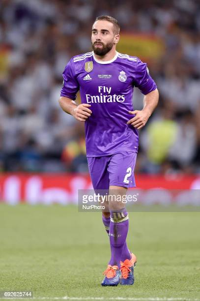Daniel Carvajal of Real Madrid during the UEFA Champions League Final match between Real Madrid and Juventus at the National Stadium of Wales Cardiff...