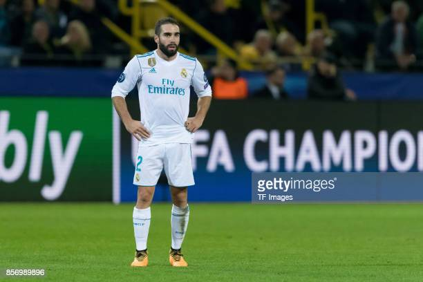 Daniel Carvajal of Real Madrid looks on during the UEFA Champions League group H match between Borussia Dortmund and Real Madrid at Signal Iduna Park...