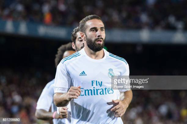 Daniel Carvajal of Real Madrid warming up during the Supercopa de Espana Final 1st Leg match between FC Barcelona and Real Madrid at Camp Nou on...