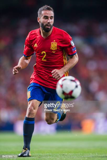 Daniel Carvajal of Spain in action during the 2018 FIFA World Cup Russia Final Qualification Round 1 Group G match between Spain and Italy on 02...