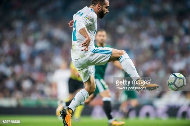 Daniel Carvajal Ramos of Real Madrid in action during the La Liga 201718 match between Real Madrid and Real Betis at Estadio Santiago Bernabeu on 20...