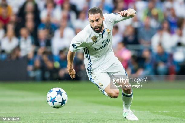 Daniel Carvajal Ramos of Real Madrid in action during their 201617 UEFA Champions League Semifinals 1st leg match between Real Madrid and Atletico de...