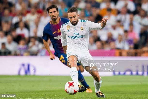 MADRID SPAIN AUGUST 16 Daniel Carvajal Ramos of Real Madrid in action during their Supercopa de Espana Final 2nd Leg match between Real Madrid and FC...