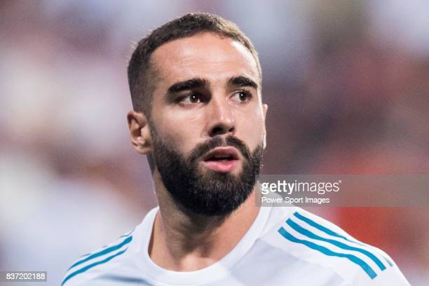 MADRID SPAIN AUGUST 16 Daniel Carvajal Ramos of Real Madrid in training prior to the Supercopa de Espana Final 2nd Leg match between Real Madrid and...