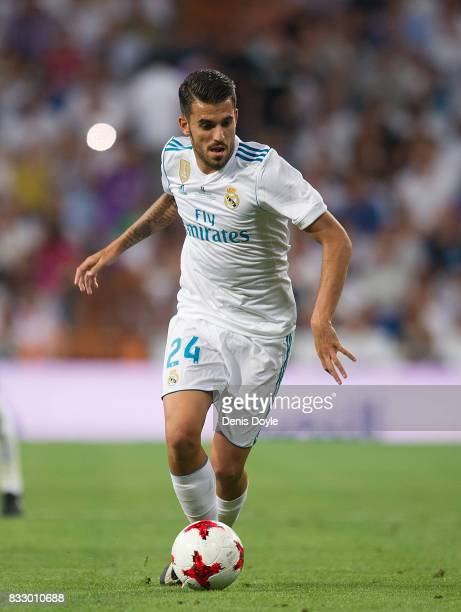 Daniel Ceballos of Real Madrid CF in action during the Supercopa de Espana Final 2nd Leg match between Real Madrid and FC Barcelona at Estadio...