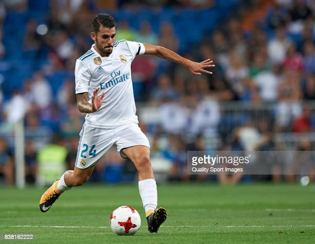 Daniel Ceballos of Real Madrid in action during the Trofeo Santiago Bernabeu match between Real Madrid and ACF Fiorentina at Estadio Santiago...