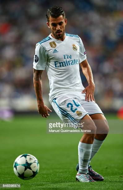 Daniel Ceballos of Real Madrid in action during the UEFA Champions League group H match between Real Madrid and APOEL Nikosia at Estadio Santiago...