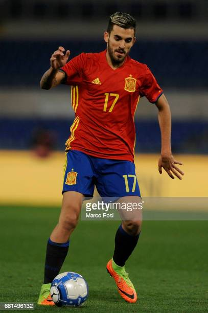 Daniel Ceballos of Spain U21 during the international friendly match between Italy U21 and Spain U21 at Olimpico Stadium on March 27 2017 in Rome...