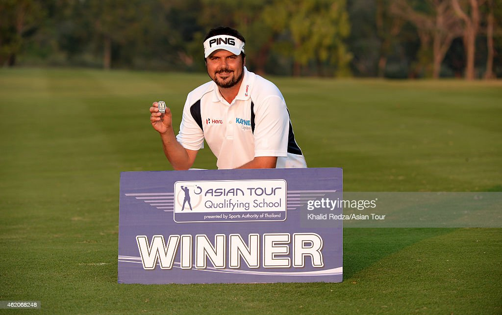 <a gi-track='captionPersonalityLinkClicked' href=/galleries/search?phrase=Daniel+Chopra&family=editorial&specificpeople=228104 ng-click='$event.stopPropagation()'>Daniel Chopra</a> of Sweden after he won during round four of the Asian Tour Qualifying School presented by Sports Authority of Thailand at the Springfield Royal Country Club on January 24, 2015 in Hua Hin, Thailand.