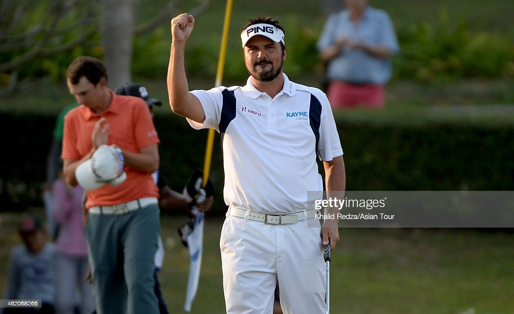 <a gi-track='captionPersonalityLinkClicked' href=/galleries/search?phrase=Daniel+Chopra&family=editorial&specificpeople=228104 ng-click='$event.stopPropagation()'>Daniel Chopra</a> of Sweden in action during round four of the Asian Tour Qualifying School presented by Sports Authority of Thailand at the Springfield Royal Country Club on January 24, 2015 in Hua Hin, Thailand.