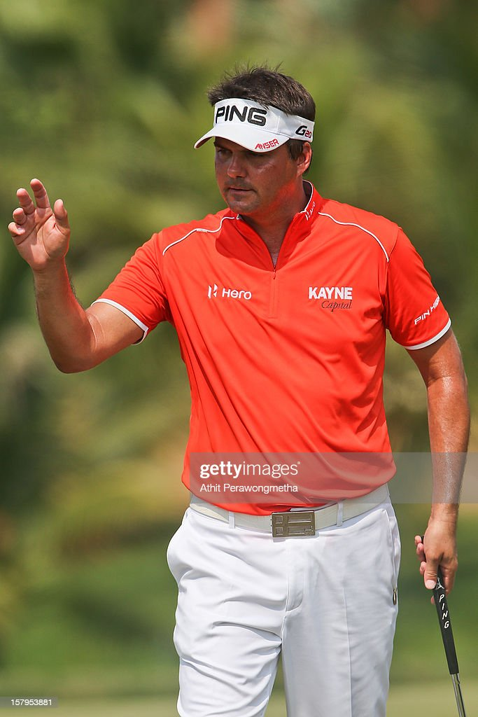<a gi-track='captionPersonalityLinkClicked' href=/galleries/search?phrase=Daniel+Chopra&family=editorial&specificpeople=228104 ng-click='$event.stopPropagation()'>Daniel Chopra</a> of Sweden reacts after plays a shot during round three of the Thailand Golf Championship at Amata Spring Country Club on December 8, 2012 in Bangkok, Thailand.