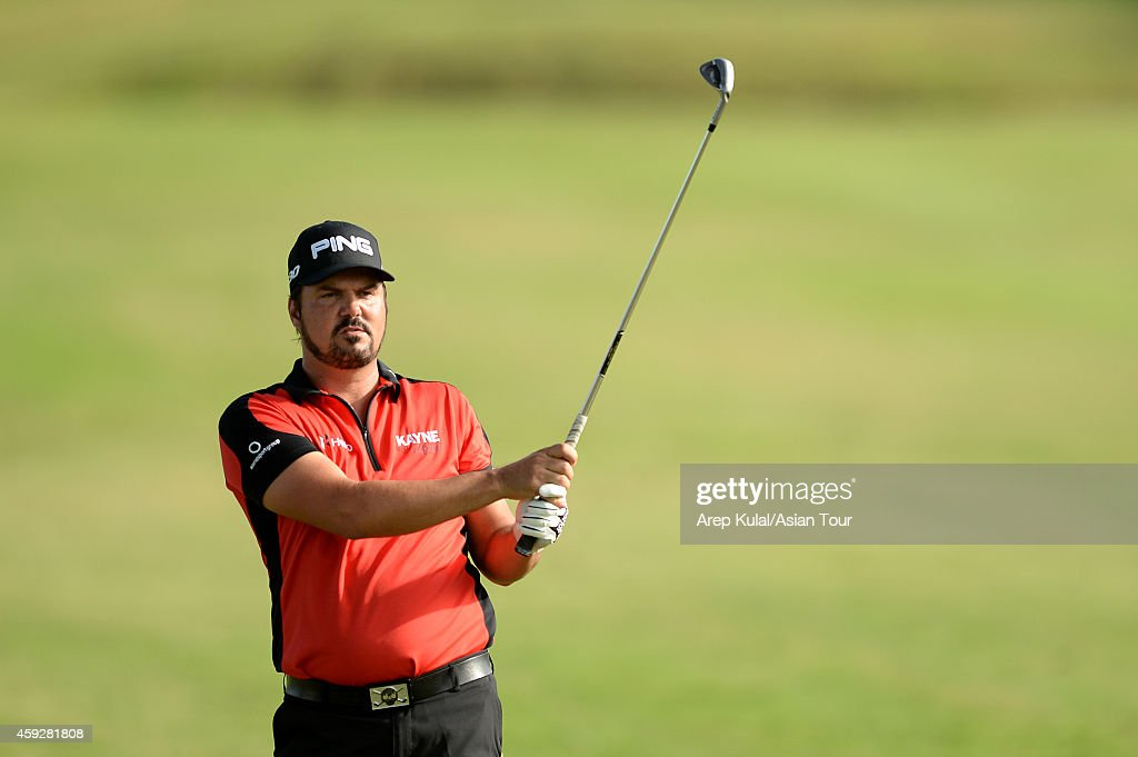 <a gi-track='captionPersonalityLinkClicked' href=/galleries/search?phrase=Daniel+Chopra&family=editorial&specificpeople=228104 ng-click='$event.stopPropagation()'>Daniel Chopra</a> of Sweeden pictured during round one of the Resorts World Manila Masters at Manila Southwoods Golf and Country Club on November 20, 2014 in Manila, Philippines.