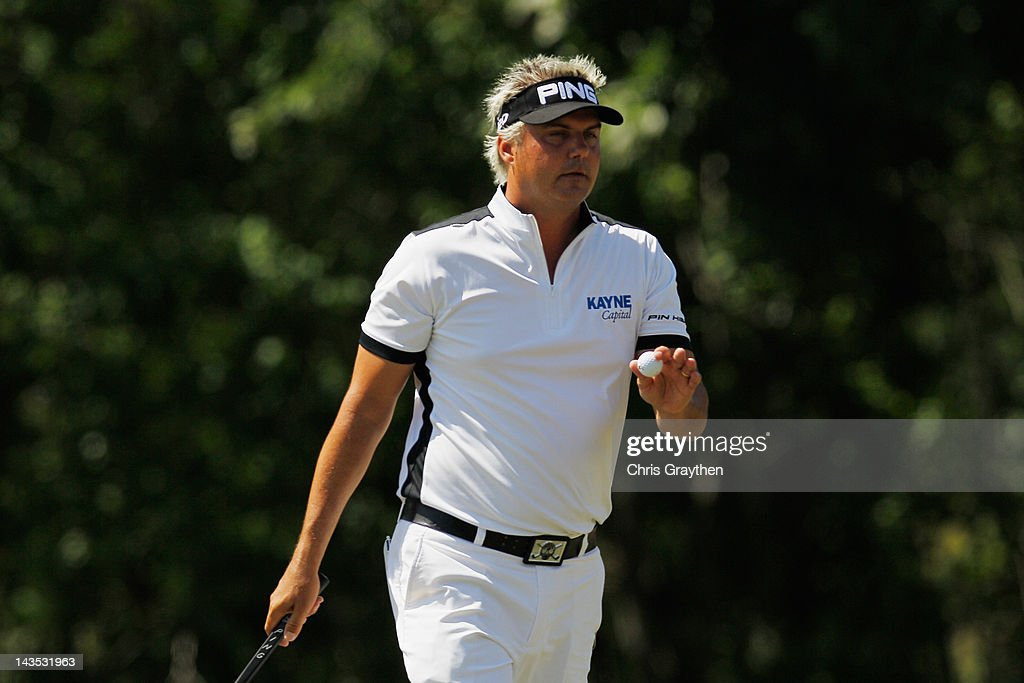<a gi-track='captionPersonalityLinkClicked' href=/galleries/search?phrase=Daniel+Chopra&family=editorial&specificpeople=228104 ng-click='$event.stopPropagation()'>Daniel Chopra</a> reacts after making a putt on the 15th green during the third round of the Zurich Classic of New Orleans at TPC Louisiana on April 28, 2012 in Avondale, Louisiana.