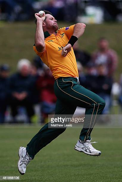 Daniel Christian of Nottinghamshire in action during the Royal London OneDay Cup match between Nottinghamshire and Warwickshire at Welbeck Colliery...