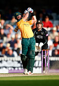 Daniel Christian of Nottinghamshire in action during the Royal London OneDay Cup Semi Final between Surrey and Nottinghamshire at The Kia Oval on...