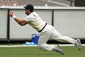 Daniel Christian of the Bushrangers catches out Michael Klinger of the Redbacks off the bowling of John Holland during day one of the Sheffield...