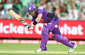 Daniel Christian of the Hurricanes bats during the Big Bash League match between the Melbourne Stars and the Hobart Hurricanes at the Melbourne...