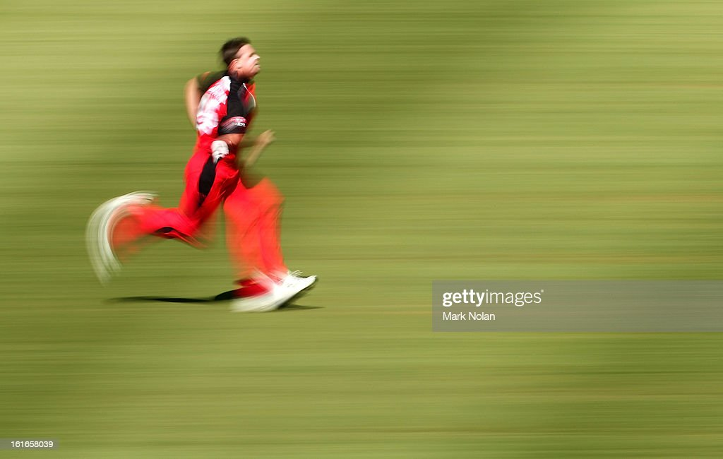 Daniel Christian of the Redbacks runs into bowl during the Ryobi Cup One Day match between the New South Wales Blues and the South Australian Redbacks at Sydney Cricket Ground on February 14, 2013 in Sydney, Australia.