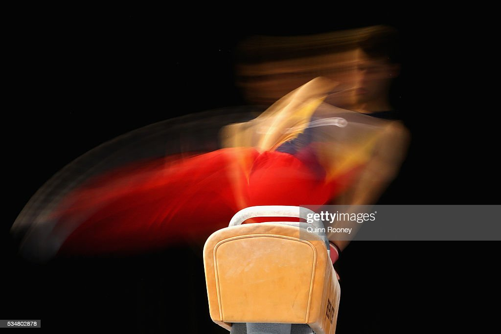 Daniel Claridge of South Australia competes on the pommel horse during the 2016 Australian Gymnastics Championships at Hisense Arena on May 28, 2016 in Melbourne, Australia.