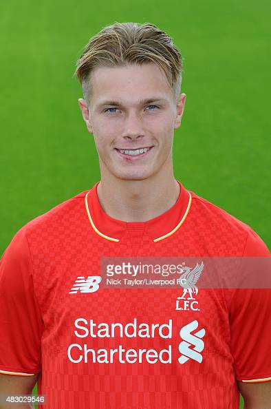 Daniel Cleary of Liverpool poses for a portrait at the Liverpool Football Club Academy on July 28 2015 in Kirkby England
