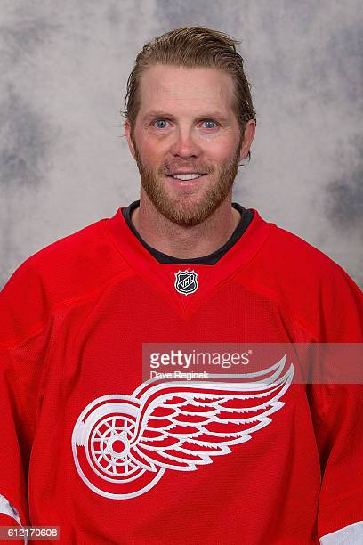 Daniel Cleary of the Detroit Red Wings has his official NHL head shot taken at Centre Ice Arena on September 22 2016 in Traverse City Michigan