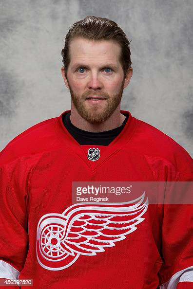 Daniel Cleary of the Detroit Red Wings poses for his official headshot for the 20142015 season on September 18 2014 at Joe Louis Arena in Detroit...