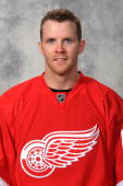 Daniel Cleary of the Detroit Red Wings poses for his official headshot for the 20082009 NHL season