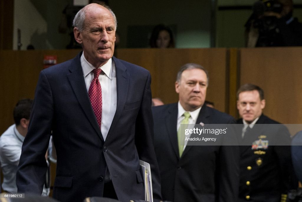 Image result for photos of daniel coats and admiral rogers