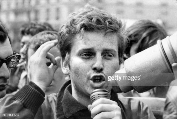Daniel CohnBendit an anarchist student and a 1968 student movement far leftist leader holds a rally 13 May 1968 at the peak of the student movement...
