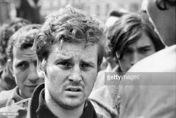 Daniel CohnBendit étudiant anarchiste à l'université de Nanterre et un des leaders d'extrême gauche du mouvement étudiant de 1968 prend la parole à...