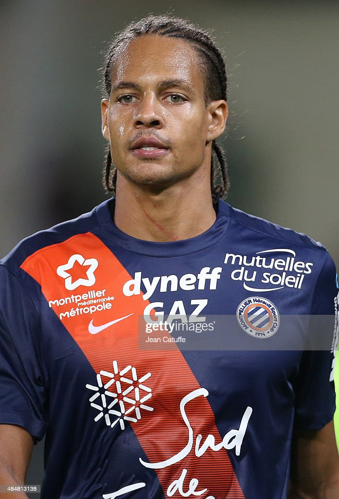 <a gi-track='captionPersonalityLinkClicked' href=/galleries/search?phrase=Daniel+Congre&family=editorial&specificpeople=2167788 ng-click='$event.stopPropagation()'>Daniel Congre</a> of Montpellier looks on during the French Ligue 1 match between Montpellier Herault SC (MHSC) v Paris Saint-Germain (PSG) at Stade de la Mosson on August 21, 2015 in Montpellier, France.
