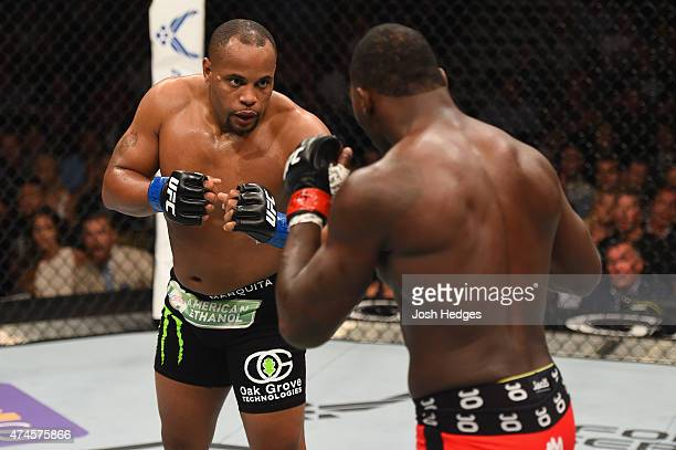 Daniel Cormier and Anthony Johnson face off in their UFC light heavyweight championship bout during the UFC 187 event at the MGM Grand Garden Arena...