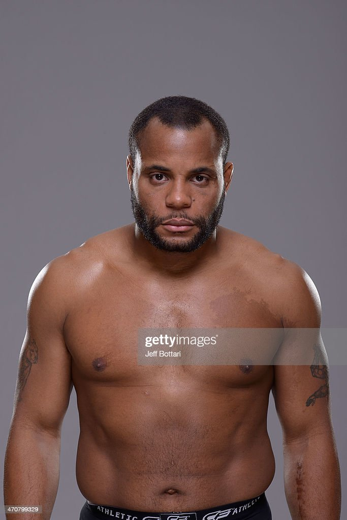 Daniel Cormier poses for a portrait during a UFC photo session on February 19 2014 in Las Vegas Nevada