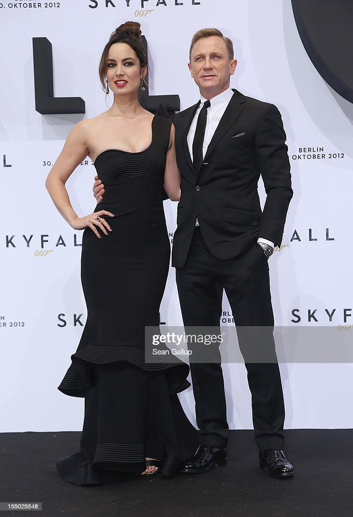 Daniel Craig and Berenice Marlohe attend the Germany premiere of 'Skyfall' at the Theater am Potsdamer Platz on October 30 2012 in Berlin Germany