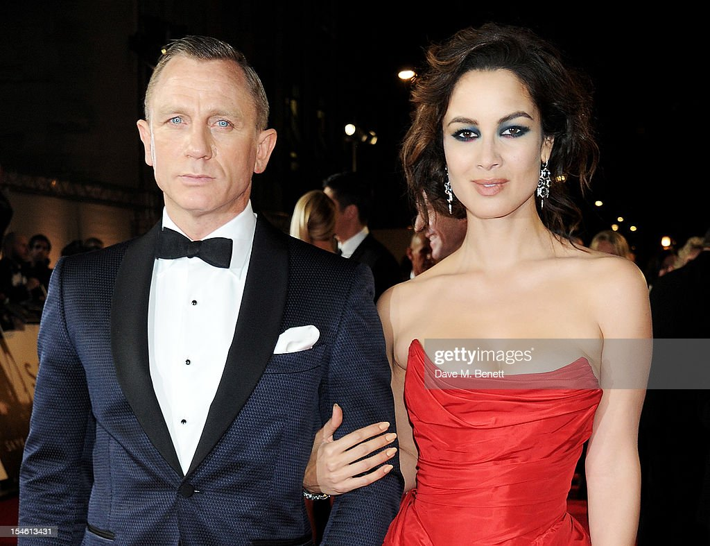 Daniel Craig and Berenice Marlohe attend the Royal World Premiere of 'Skyfall' at the Royal Albert Hall on October 23 2012 in London England