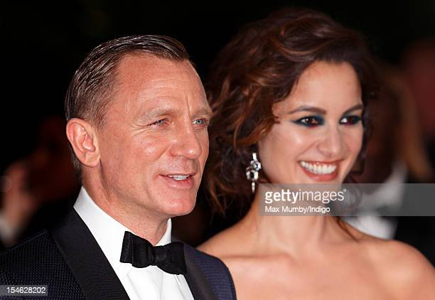 Daniel Craig and Berenice Marlohe attend the Royal World Premiere of 'Skyfall' at Royal Albert Hall on October 23 2012 in London England