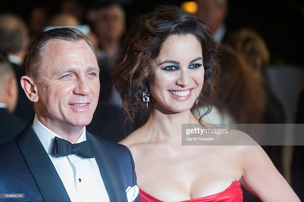 Daniel Craig and <a gi-track='captionPersonalityLinkClicked' href=/galleries/search?phrase=Berenice+Marlohe&family=editorial&specificpeople=6966628 ng-click='$event.stopPropagation()'>Berenice Marlohe</a> attend the Royal World Premiere of 'Skyfall' at the Royal Albert Hall on October 23, 2012 in London, England.