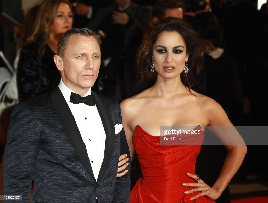 Daniel Craig and <a gi-track='captionPersonalityLinkClicked' href=/galleries/search?phrase=Berenice+Marlohe&family=editorial&specificpeople=6966628 ng-click='$event.stopPropagation()'>Berenice Marlohe</a> attends the Royal World Premiere of 'Skyfall' at Royal Albert Hall on October 23, 2012 in London, England.