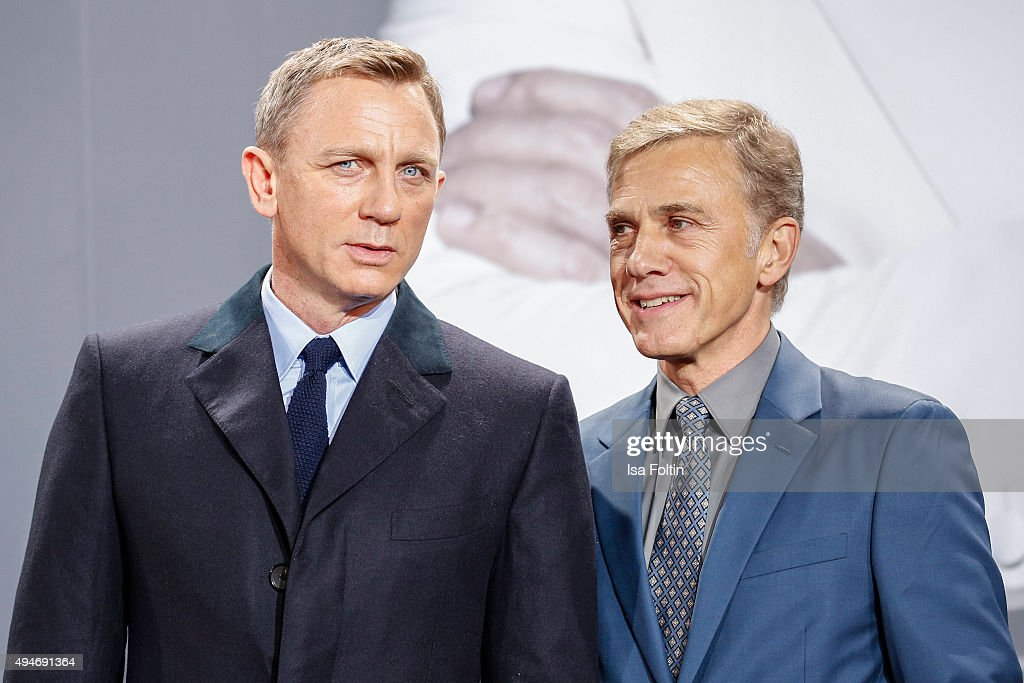 Daniel Craig and Christoph Waltz attend the 'Spectre' German Premiere on October 28, 2015 in Berlin, Germany.