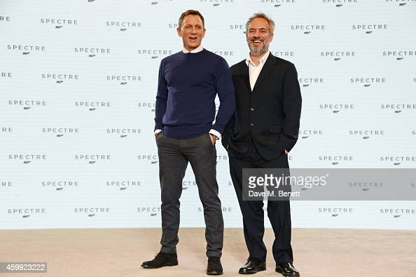 Daniel Craig and director Sam Mendes attend a photocall with cast and filmmakers to mark the start of production which is due to commence on the 24th...