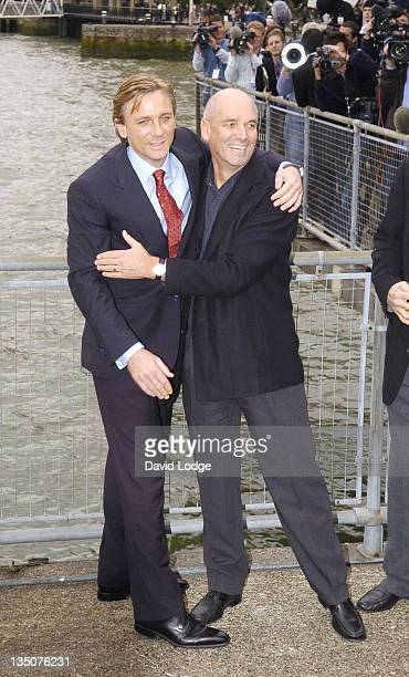 Daniel Craig and Martin Campbell during Daniel Craig Unveiled as the New James Bond in 'Casino Royale' Photocall at HMS President 72 St Katharine's...