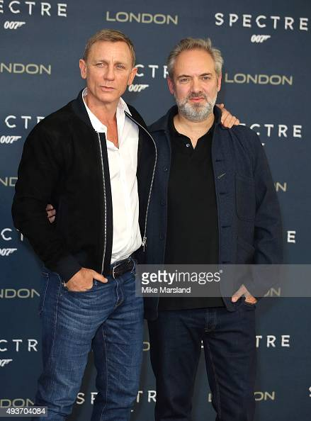 Daniel Craig and Sam Mendes attend a photocall for 'Spectre' at Corinthia Hotel London on October 22 2015 in London England