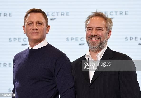 Daniel Craig and Sam Mendes attend the photocall to announce the start of the production of the 24th Bond Film 'Spectre' at Pinewood Studios on...