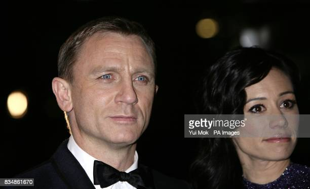 Daniel Craig and Satsuki Mitchell arrive for the World premiere of 'Quantum Of Solace' at the Odeon Leicester Square WC2